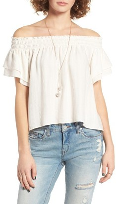 Women's Astr The Label Cameron Off The Shoulder Top $78 thestylecure.com