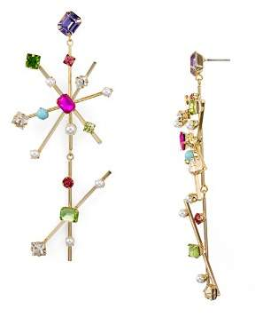 RJ Graziano Double Starburst Drop Earrings