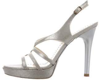 Stella McCartney Metallic Platform Sandals