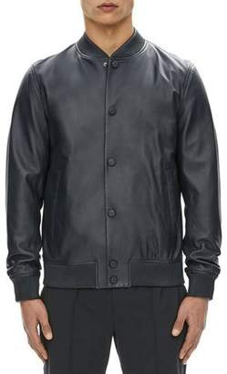Theory Hubert Leather Varsity Jacket