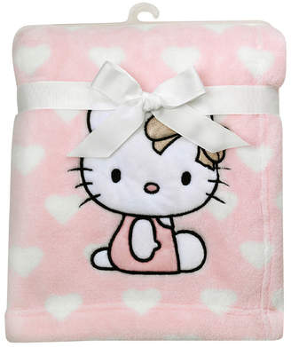 Lambs & Ivy Hello Kitty Heart Luxury Coral Fleece Baby Blanket Bedding