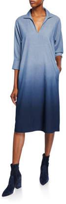 Lafayette 148 New York Nicole Chambray Ombre Shift Dress