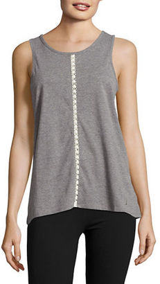Nautica Lace-Trimmed Tank Top $34 thestylecure.com