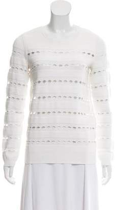 Herve Leger Yusa Open Knit Sweater