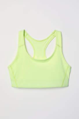 H&M Sports Bra Medium support - Yellow