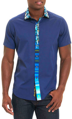 Robert Graham Kerala Mixed-Print Short-Sleeve Sport Shirt $228 thestylecure.com