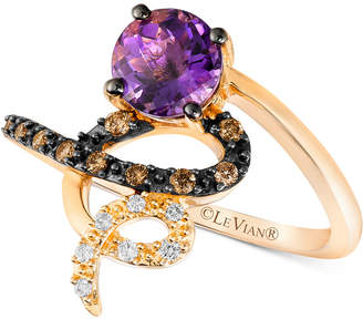 LeVian Le Vian Chocolatier Vibrant Orchid Grape Amethyst (3/4 ct. t.w.) & Diamond (1/8 ct. t.w.) Ring in 14k Gold