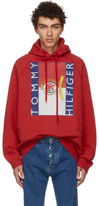 Vetements Red Tommy Hilfiger Edition Oversized Hoodie