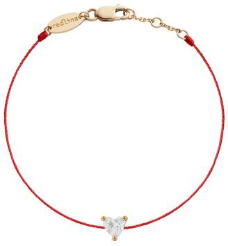 Redline Diamond Heart Red Bracelet - Rose Gold