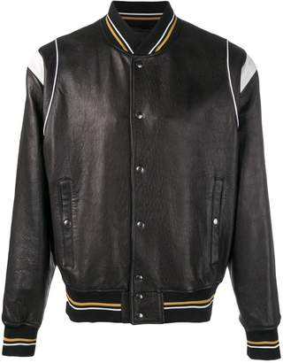 Givenchy embossed logo leather jacket