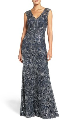 Women's Tadashi Shoji 'Kelly' Embroidered Mermaid Gown $548 thestylecure.com