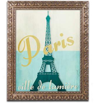 Trademark Global Color Bakery 'Paris City Of Light' Ornate Framed Art