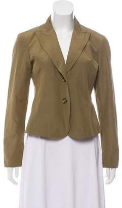 Lafayette 148 Silk-Blend Cropped Jacket