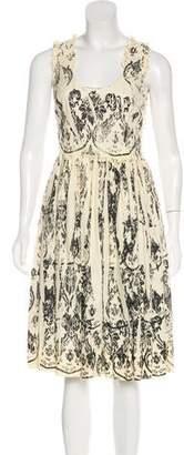 Miu Miu Sleeveless Midi Dress