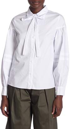 ENGLISH FACTORY Pleated Puffy Sleeve Blouse