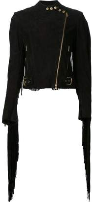 Ralph Lauren fringed biker jacket
