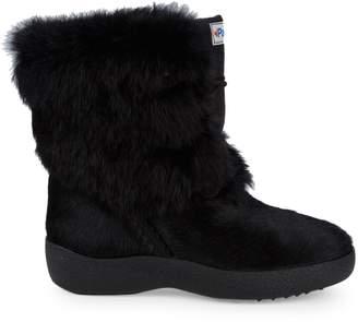 Pajar Calf Hair & Rabbit Fur-Trim Suede Mid-Calf Boots