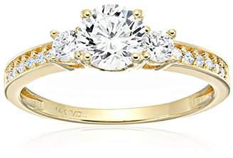 14k Cubic Zirconia Engagement Ring
