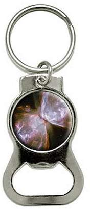 Nothing Specific Bug Butterfly Nebula Galaxy Space Bottle Cap Opener Keychain Key Ring