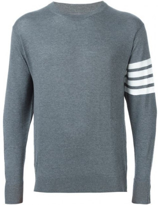 Thom Browne striped sleeve detail sweater $875 thestylecure.com