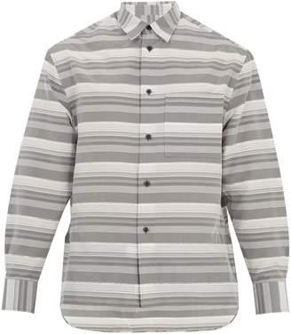 Lanvin Oversized striped cotton and silk-blend shirt