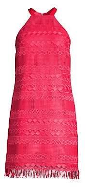 Trina Turk Women's Playtime Lace Fringe Dress