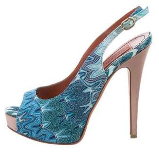 Missoni Platform Peep-Toe Pumps