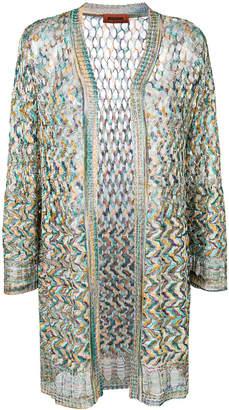 Missoni woven cardi-coat