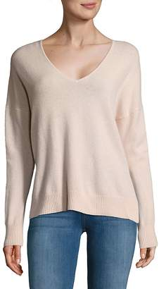 Leo & Sage Women's Double V-Neck Cashmere Sweater