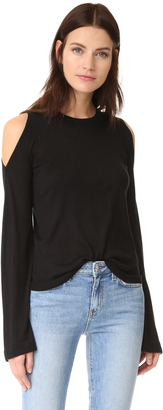 Derek Lam 10 Crosby Cold Shoulder Flare Sleeve Sweater $345 thestylecure.com