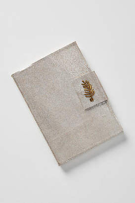 Anthropologie Silver Leather Journal
