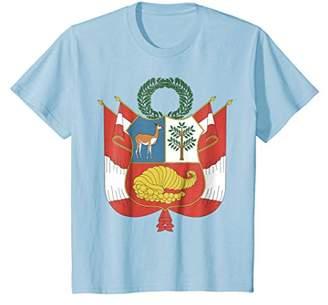 Peru coat of arms T-shirt Tee Tees T Shirt Tshirt