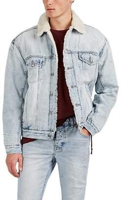 Ksubi Men's Oh G Sherpa-Lined Distressed Cotton Denim Jacket