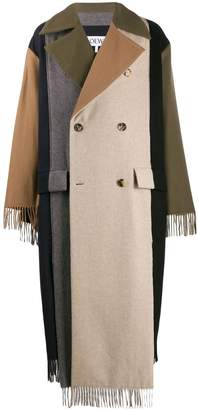 scarf-style panelled coat