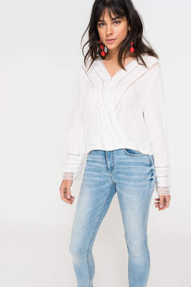Ardene Wrap Top with Lace