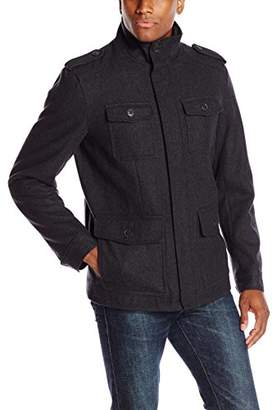 Dockers Wool Melton Four Pocket Military Field Jacket
