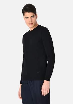 Emporio Armani Crewneck Sweater In Virgin Wool