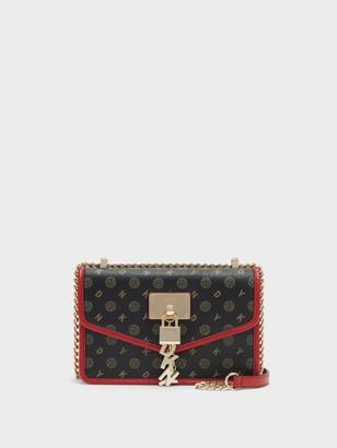 DKNY Elissa Small Heritage Logo Flap Shoulder Bag