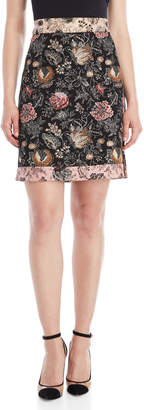 Save The Queen Floral Tapestry Skirt