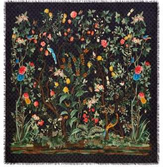 Gucci Tian print modal silk shawl