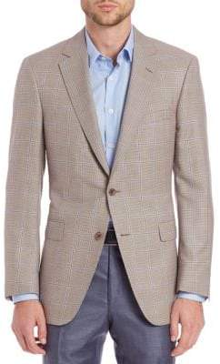 Saks Fifth Avenue COLLECTION BY SAMUELSOHN Classic-Fit Houndstooth Check Wool & Silk Sportcoat