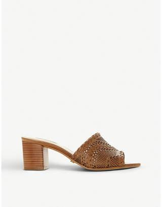 Dune Marice leather heeled mules