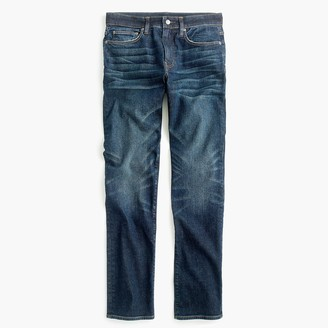 J.Crew 1040 Athletic-fit jean in stretch dark worn Japanese denim