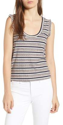 Cupcakes And Cashmere Brittney Mixed Stripe Tank