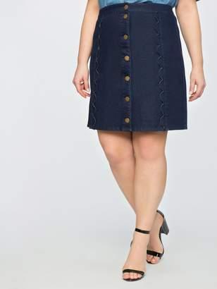 Draper James for ELOQUII Scallop A-Line Skirt