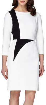 Women's Tahari Colorblock Ponte Sheath Dress $138 thestylecure.com