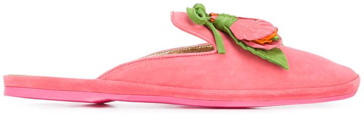Car ShoeCar Shoe flower applique slippers