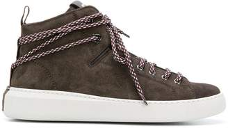 Moncler suede high top trainers