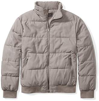 The Plus Project Men's Plus Size Quilted Jacket with Hidden Hood 3X-Large