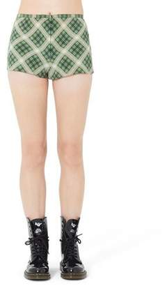Marc Jacobs Washed Silk Plaid Shorts